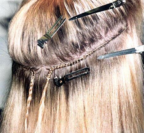 Exempel på hur weaving flätan ser ut.