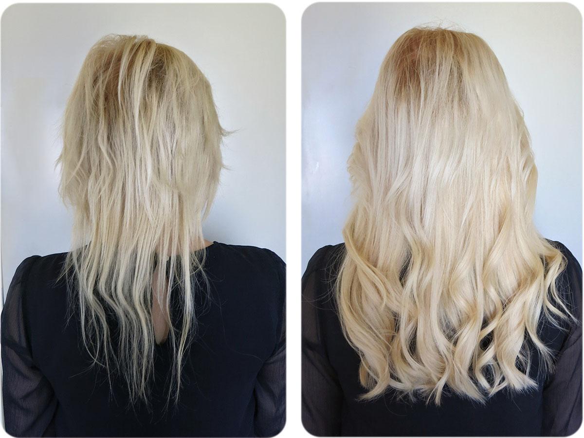 skonsammaste metoden för hårförlängning